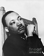 Martin Luther King Jr Posters - Martin Luther King, Jr Poster by Photo Researchers