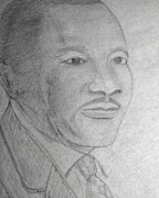 Leader Drawings Posters - Martin Luther King Poster by Leo Price