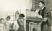 Martin Luther King On Pulpit Print by Robert Casilla