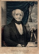 Lithographs Photos - Martin Van Buren As President by Everett