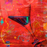 Art Glass Pyrography - Martini-1 by Mauro Celotti