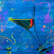 Art Glass Pyrography - Martini-3 by Mauro Celotti
