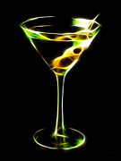 Mixed Drink Digital Art Acrylic Prints - Martini Electrified Acrylic Print by Wingsdomain Art and Photography