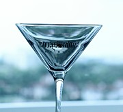 Grey Goose Prints - Martini II Print by Rene Triay