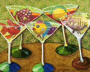Fish In Art Framed Prints - Martini Madness Framed Print by Linda Kegley