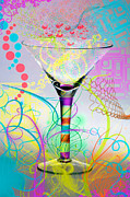 Art Glass Pyrography - Martini by Mauro Celotti