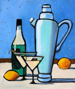 Cocktails Paintings - Martini Night by Toni Grote