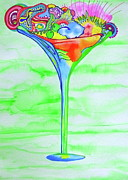 Trippy Paintings - Martini Parfait by Erika Swartzkopf