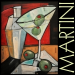 Olives Framed Prints - Martini Poster Framed Print by Tim Nyberg