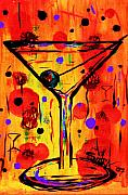 Bistro Paintings - Martini twentyfive of SIDZART Pop Art Collection by Sidra Myers