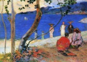 Caribbean Sea Painting Metal Prints - Martinique Island Metal Print by Paul Gauguin