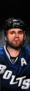 Bolts Painting Prints - Marty St. Louis Print by Marlon Huynh