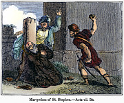 Anti Christianity Posters - Martyrdom Of St. Stephen Poster by Granger
