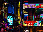 Times Square Digital Art Acrylic Prints - Marvelous Acrylic Print by Jeff Breiman