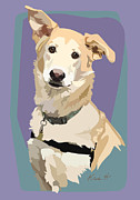 Pet Portraits Digital Art Prints - Marvelous Mix Print by Kris Hackleman
