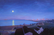 Night Scenes Painting Originals - Marvelous Night by Aaron Memmott
