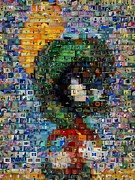 Bugs Bunny Posters - Marvin The Martian Mosaic Poster by Paul Van Scott