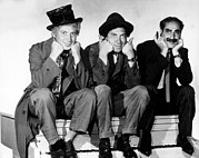Chico Photo Framed Prints - Marx Brothers - Harpo Marx, Chico Marx Framed Print by Everett
