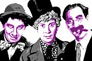 Marx Framed Prints - Marx Brothers Framed Print by DB Artist