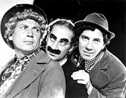 Mustache Posters - Marx Brothers, The Harpo, Groucho Poster by Everett