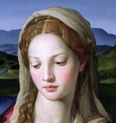 Close Up Painting Metal Prints - Mary Metal Print by Agnolo Bronzino
