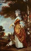 Dog Walking Painting Framed Prints - Mary Amelia First Marchioness of Salisbury Framed Print by Sir Joshua Reynolds
