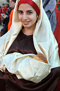 Mary Originals - Mary and Baby Jesus at the Christmas March in Bethlehem by Munir Alawi