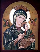 Virgin Mary Metal Prints - Mary and Jesus Metal Print by Lena Day
