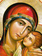 Religious Art Photos - Mary Icon by Munir Alawi