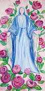 Rosary Prints - Mary in Her Rosary Print by Michele Rose