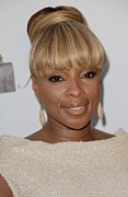 Bestofredcarpet Prints - Mary J Blige At Arrivals For 2011 Print by Everett