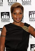 Thurgood Prints - Mary J. Blige At Arrivals For Thurgood Print by Everett