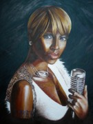 Soft And Subtle Framed Prints - Mary j Blige Framed Print by Chris  Richardson