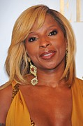 Gold Earrings Posters - Mary J. Blige In Attendance For 2nd Poster by Everett