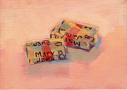 Candy Paintings - Mary Janes by Kimberly Santini