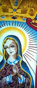 Virgin Mary Paintings - Mary by Julie Butterworth