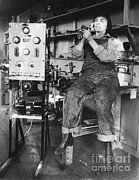 Mary Loomis, Radio School Operator Print by Science Source