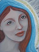 Portraiture Pastels Posters - Mary Magdalene Poster by Tammy Mae Moon