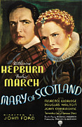 Katharine Framed Prints - Mary Of Scotland, Fredric March Framed Print by Everett
