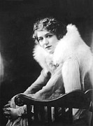 White Fur Framed Prints - Mary Pickford, 1918 Framed Print by Everett