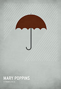 Minimalist Framed Prints - Mary Poppins Framed Print by Christian Jackson