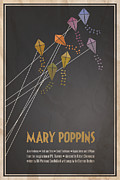 Kites Metal Prints - Mary Poppins Metal Print by Megan Romo