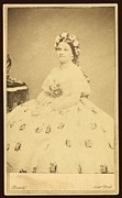 First Lady Framed Prints - Mary Todd Lincoln 1818-1882 Framed Print by Everett