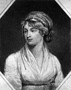 Drawing Of Woman Framed Prints - Mary Wollstonecraft, English Author Framed Print by Photo Researchers
