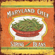 Green Beans Prints - Maryland Chef Beans Print by Debbie DeWitt