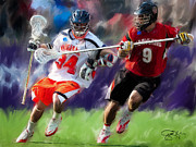 Lacrosse Paintings - Maryland close D by Scott Melby