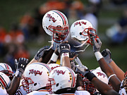 University Of Illinois Photos - Maryland Football Helmets by Maryland Athletics