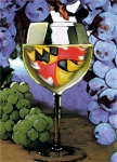 Wine Digital Art Posters - Maryland Wine Poster by John D Benson
