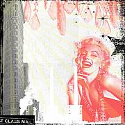 Montage Mixed Media - Marylin by Christine Thompson