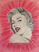 Marylin Paintings - Marylin Monroe Double Pink by Jeepee Aero